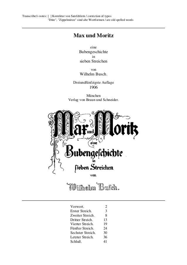 """Transcriber's notes: [ ] Korrektur von Satzfehlern / correction of typos """"Düte"""", """"Zippelmütze"""" sind alte Wortformen / are ..."""