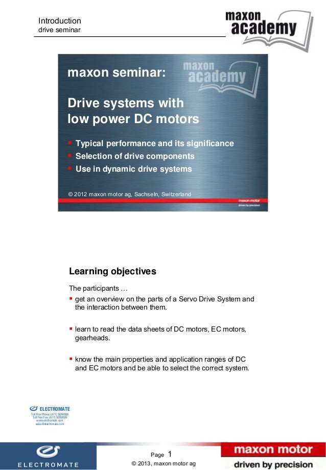 Introduction                      drive seminar                                           maxon seminar:                  ...
