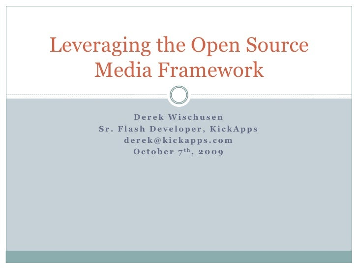 Leveraging Adobe's Open Source Media Framework (OSMF)