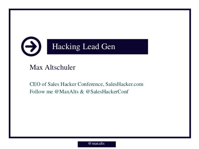 Hacking Lead Gen - Tools, Resources, and Strategy