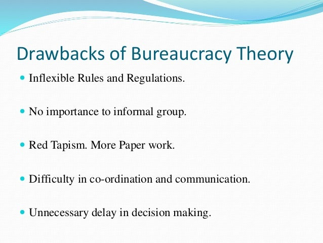 advantages of bureaucratic model Learn more about the bureaucratic theory by max weber to understand the bureaucracy definition, the principles, benefits and disadvantages read more.