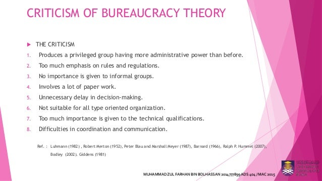 Max Weber U2019s Theory Of Bureaucracy And Its Criticism