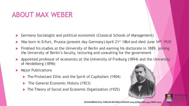 max weber on bureaucracy essay