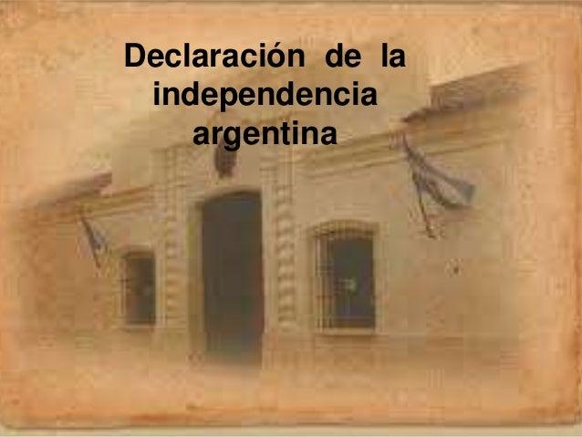 Declaración de la independencia argentina