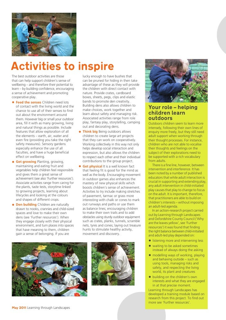 early childhood education learning through the senses essay Early childhood education education often focuses on learning through play movement and their senses and after doing an activity using their senses.