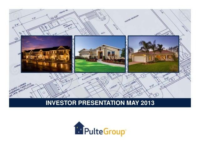 INVESTOR PRESENTATION MAY 2013