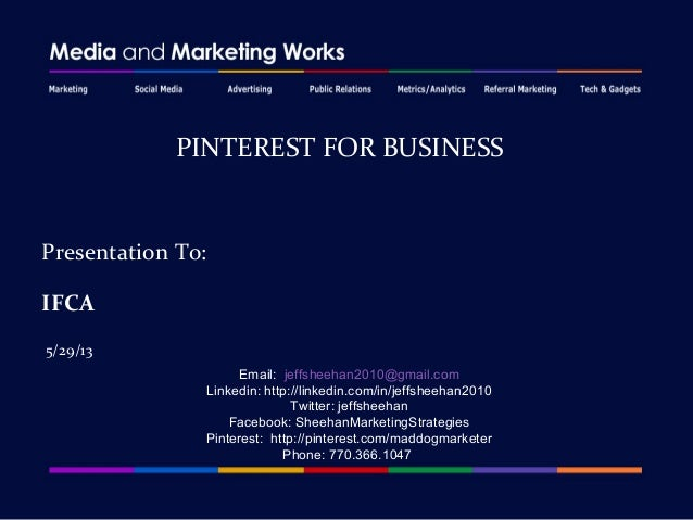 Pinterest for Business - May 2013 Webinar
