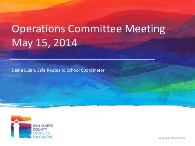 May 15 Operations Commitee Meeting
