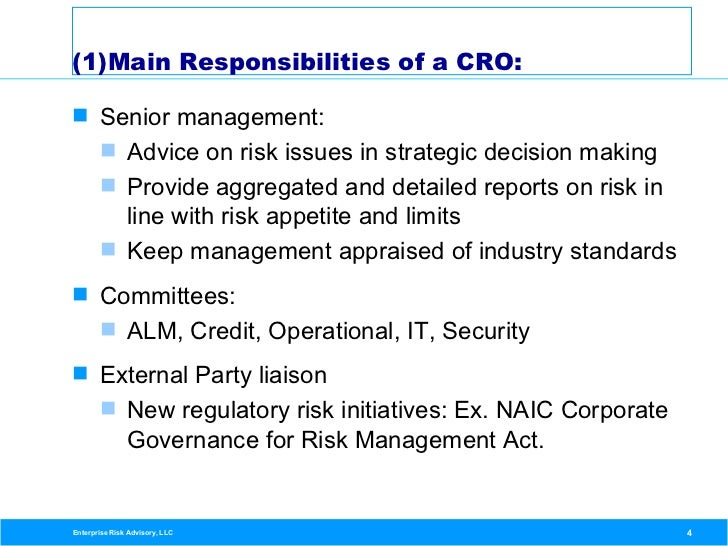 the importance and role of risk management in organizational operations Operational risk and the role it has played in the crisis it is a vastly underrated discipline operational failures have led to many of the losses associated with the crisis.