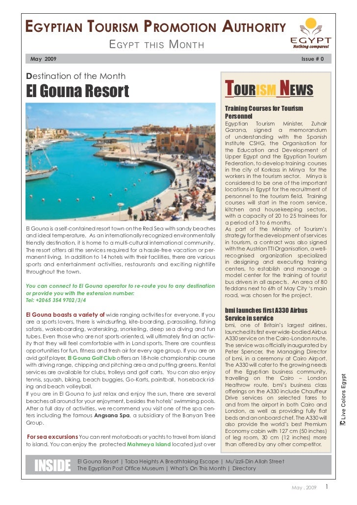 Egyptian tourism promotion authority                                   E gypt        this       M onth May 2009           ...