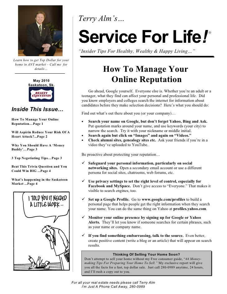 Terry Alm's…                                              Service For Life!                                               ...