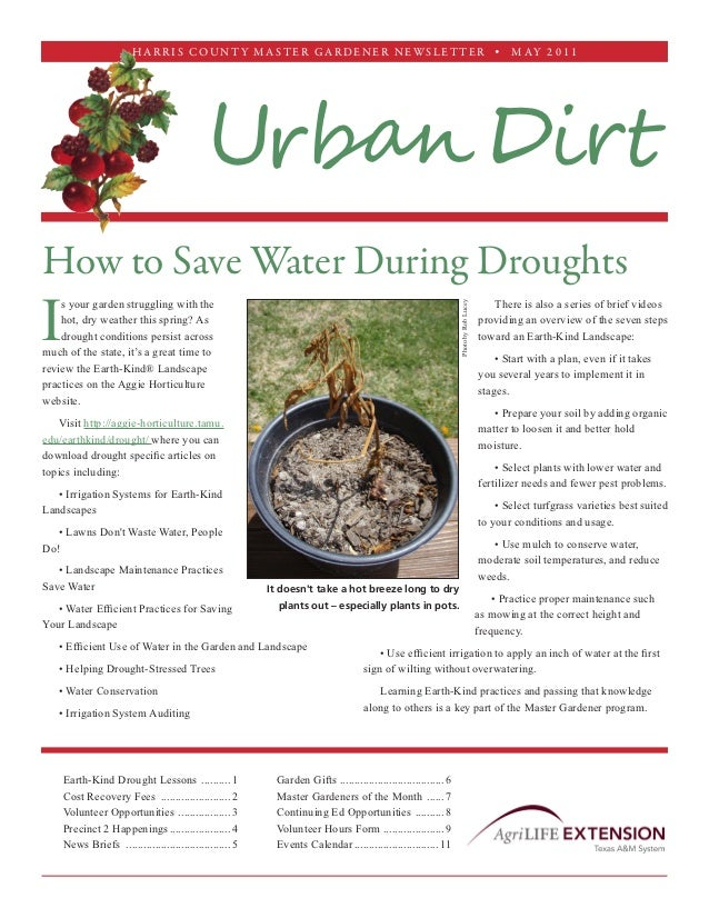 How to Save Water During Droughts - Harris County Master Gardener