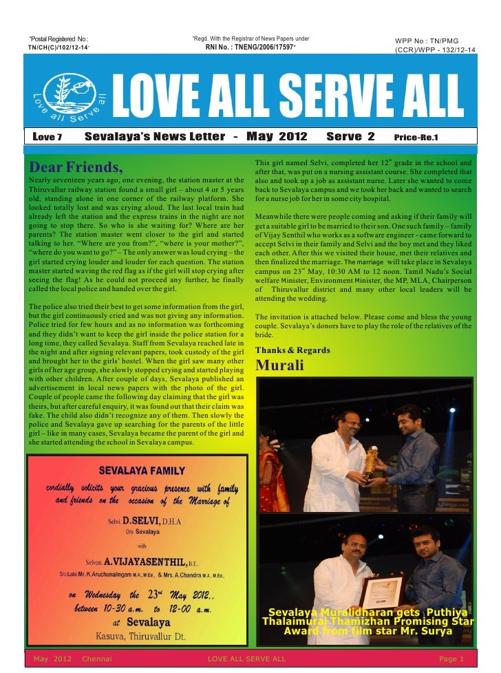 May 2012 News Letter
