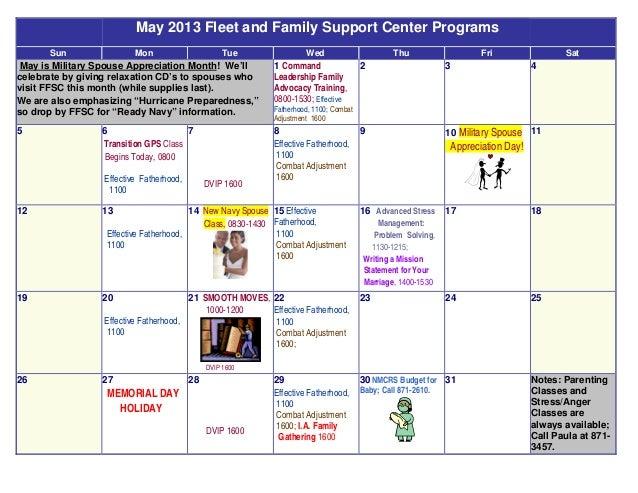 May 2013 FFSC Calendar