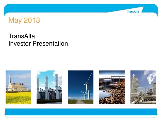 May 2013 investor presentation final