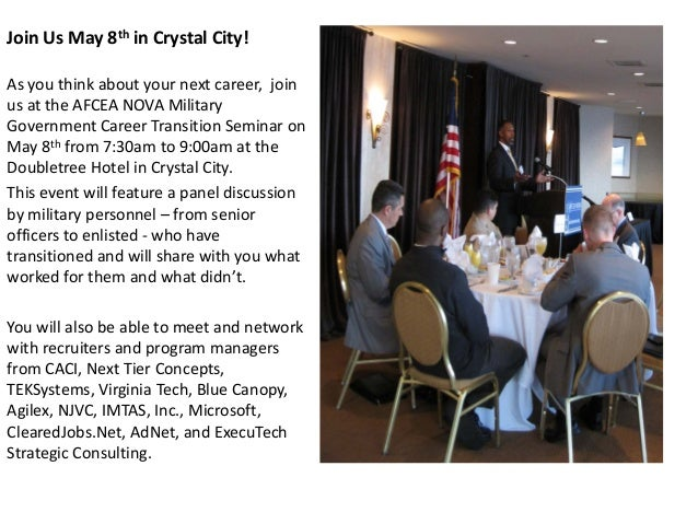 Military Career Transition Event May 8th Crystal City, VA
