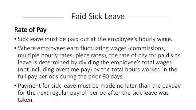 Sick Pay Laws to Date | Cambridge Insurance Advisors