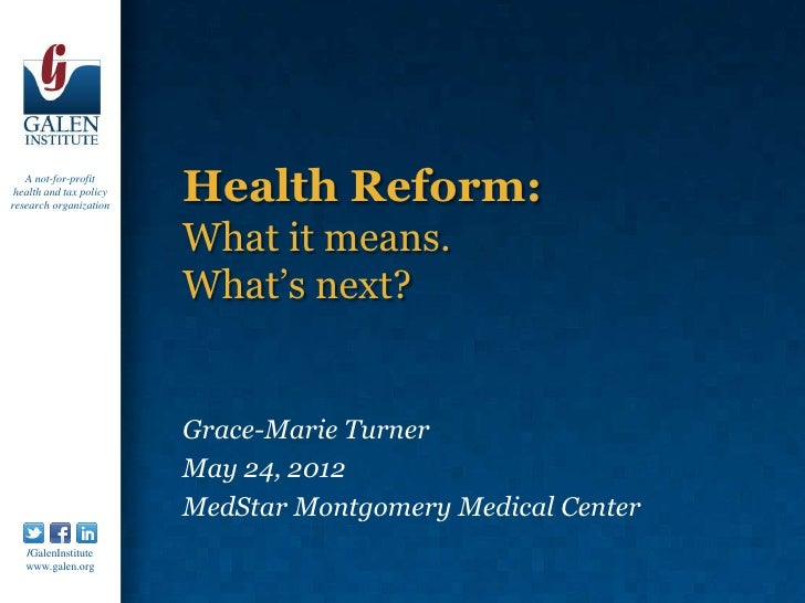 Health reform: What it means. What's next?