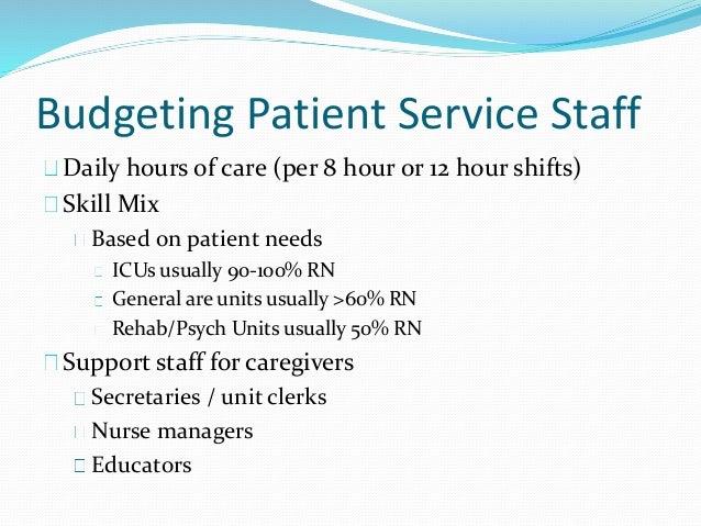 nursing unit budget