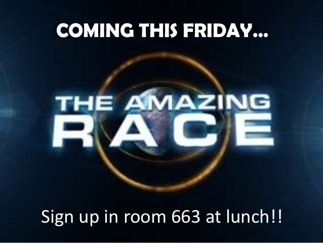 Sign up in room 663 at lunch!!COMING THIS FRIDAY…