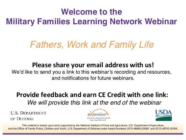 May 29-Fathers, Work and Family Life MFLN Family Development webinar presentation