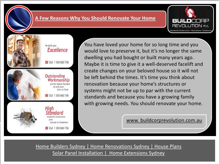 A Few Reasons Why You Should Renovate Your Home                    You have loved your home for so long time and you      ...