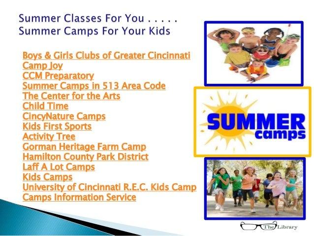 Boys & Girls Clubs of Greater CincinnatiCamp JoyCCM PreparatorySummer Camps in 513 Area CodeThe Center for the ArtsChild T...