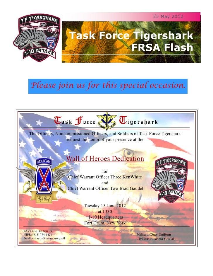 25 May 2012                                 Task Force Tigershark                                           FRSA Flash    ...