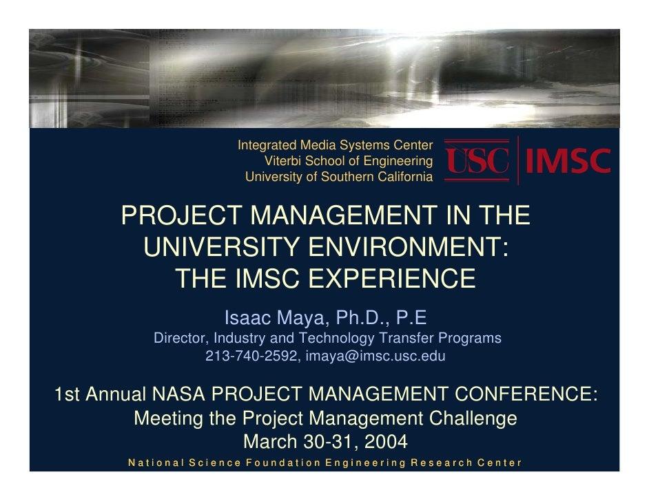Integrated Media Systems Center                          Viterbi School of Engineering                       University of...