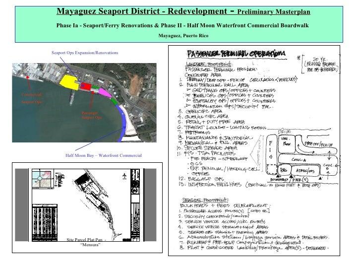 "Half Moon Bay – Waterfront Commercial Seaport Ops Expansion/Renovations Site Parcel Plat Pan  -  ""Mensura"" Mayaguez Seapor..."