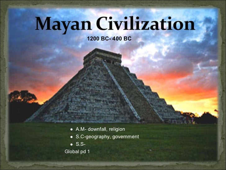1200 BC- 400 BC    A.M- downfall, religion    S.C-geography, government    S.S-Global pd 1