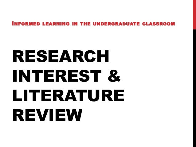 Undergraduate literature review