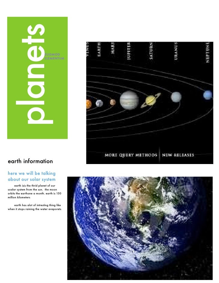 planets                      EUISMOD                             ELEMENTUMearth informationhere we will be talkingabout ou...