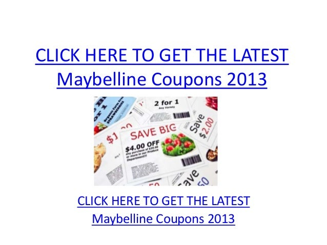 Maybelline Coupons 2013 - Printable Maybelline Coupons 2013