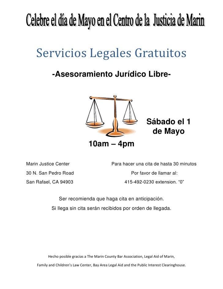 Servicios Legales Gratuitos              -Asesoramiento Jurídico Libre-                                                   ...