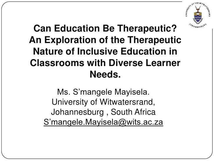 Mayisela  can education be therapeutic-handouts