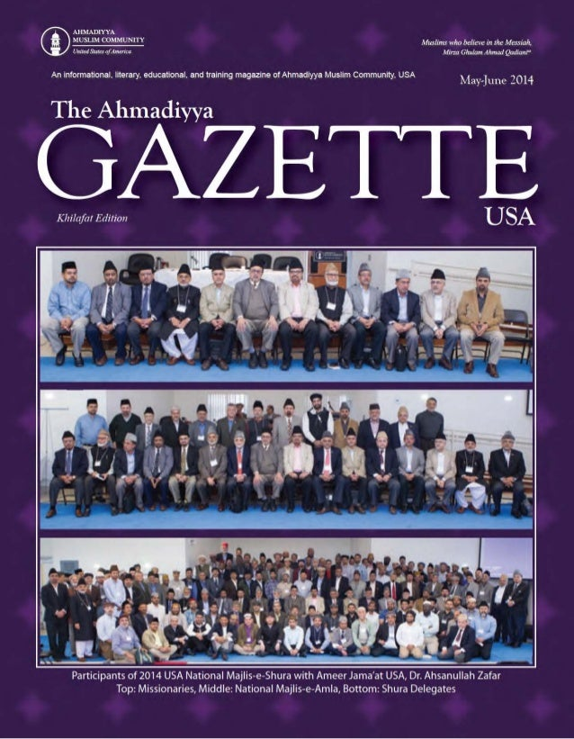 Ahmaddiya Guzette May jun2014 english-section