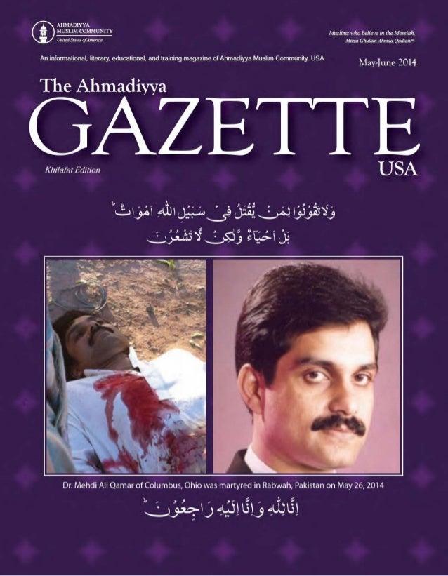 Ahmaddiyya Guzette May jun2014 urdu-section