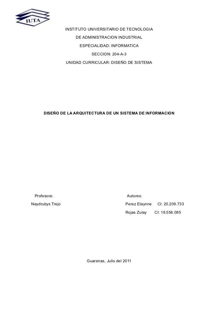 INSTITUTO UNIVERSITARIO DE TECNOLOGIA                      DE ADMINISTRACION INDUSTRIAL                        ESPECIALIDA...