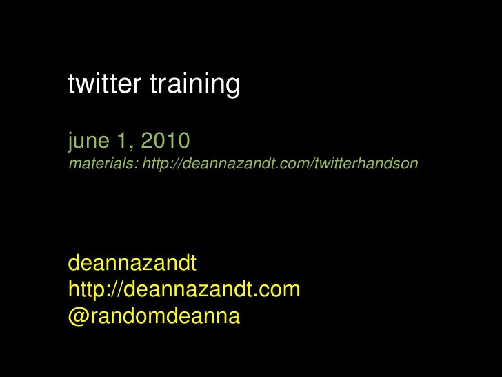Twitter Training for Media Professionals
