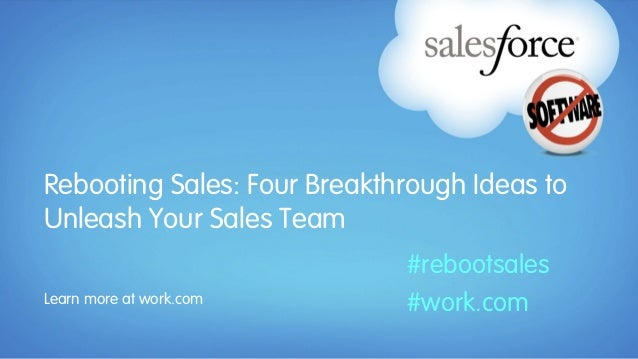 Rebooting Sales: Four Breakthrough Ideas toUnleash Your Sales Team                             #rebootsalesLearn more at w...
