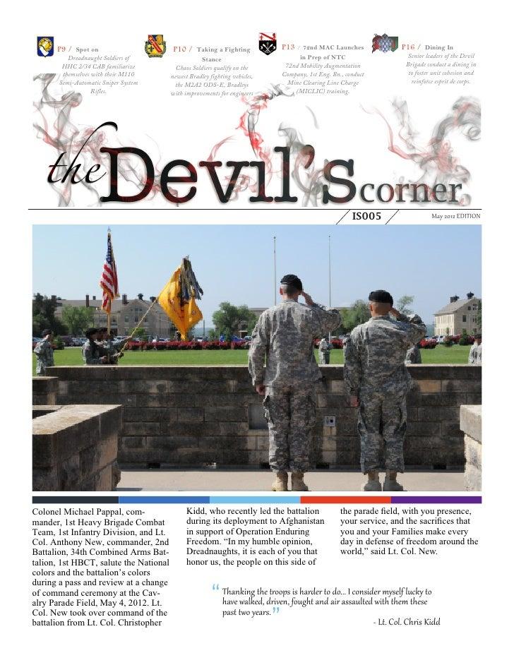 May 2012 Devil's Corner 1HBCT Newsletter