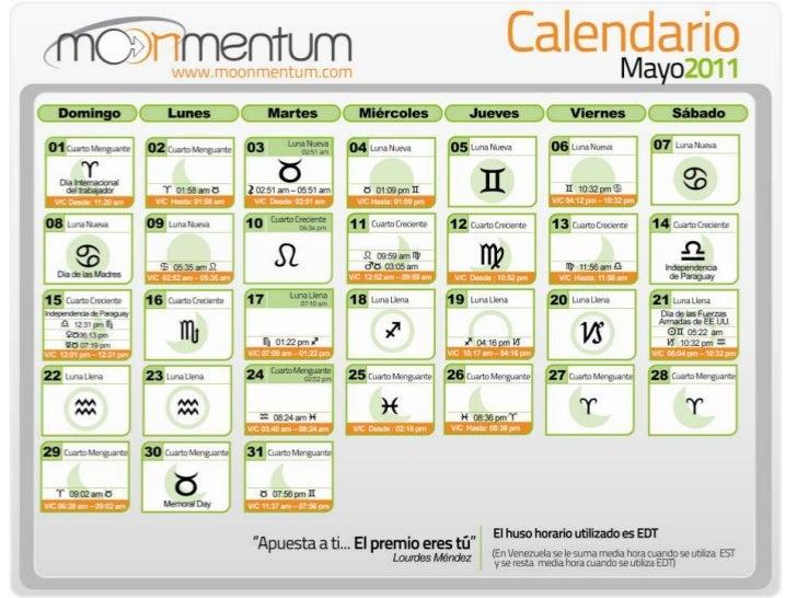 Calendario Astrológico Mayo 2011