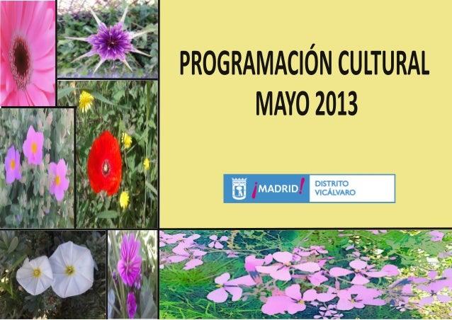 Programación Cultural Vicálvaro Mayo