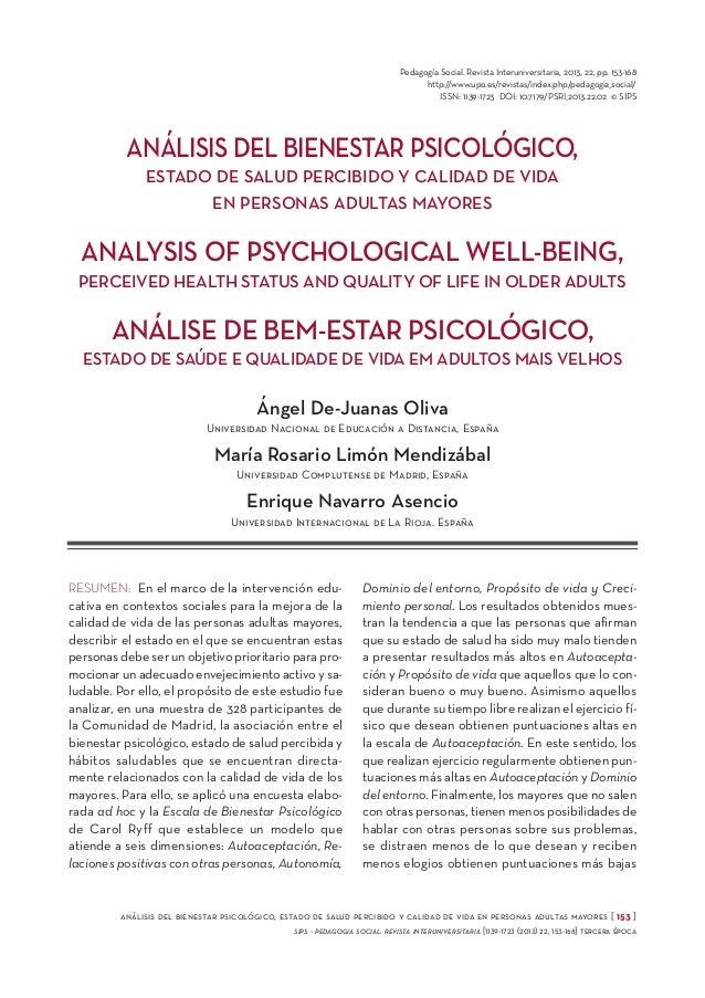 Pedagogía Social. Revista Interuniversitaria, 2013, 22, pp. 153-168 http://www.upo.es/revistas/index.php/pedagogia_social/...