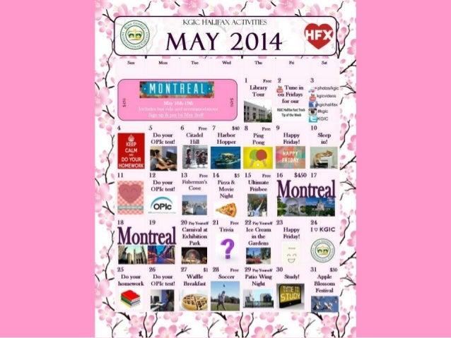 KGIC Halifax - May 2014 Activities