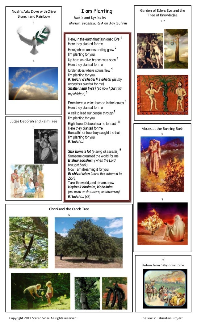 I am Planting Music and Lyrics by Miriam Brosseau & Alan Jay Sufrin Here, in the earth that fashioned Eve 1 Here they plan...