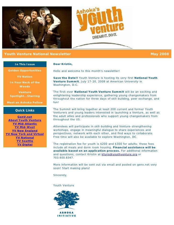 May 08 YV National Newsletter