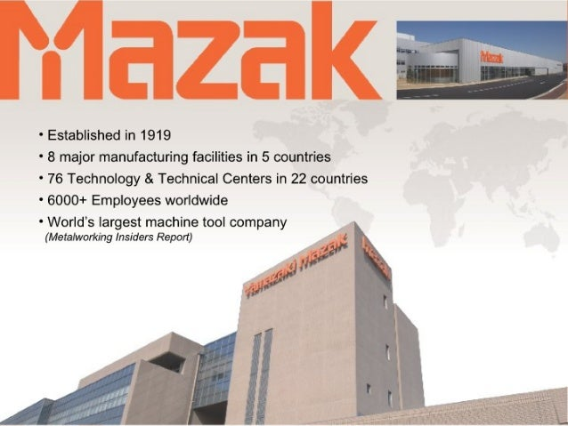Mazak Optonics Corporation Intro