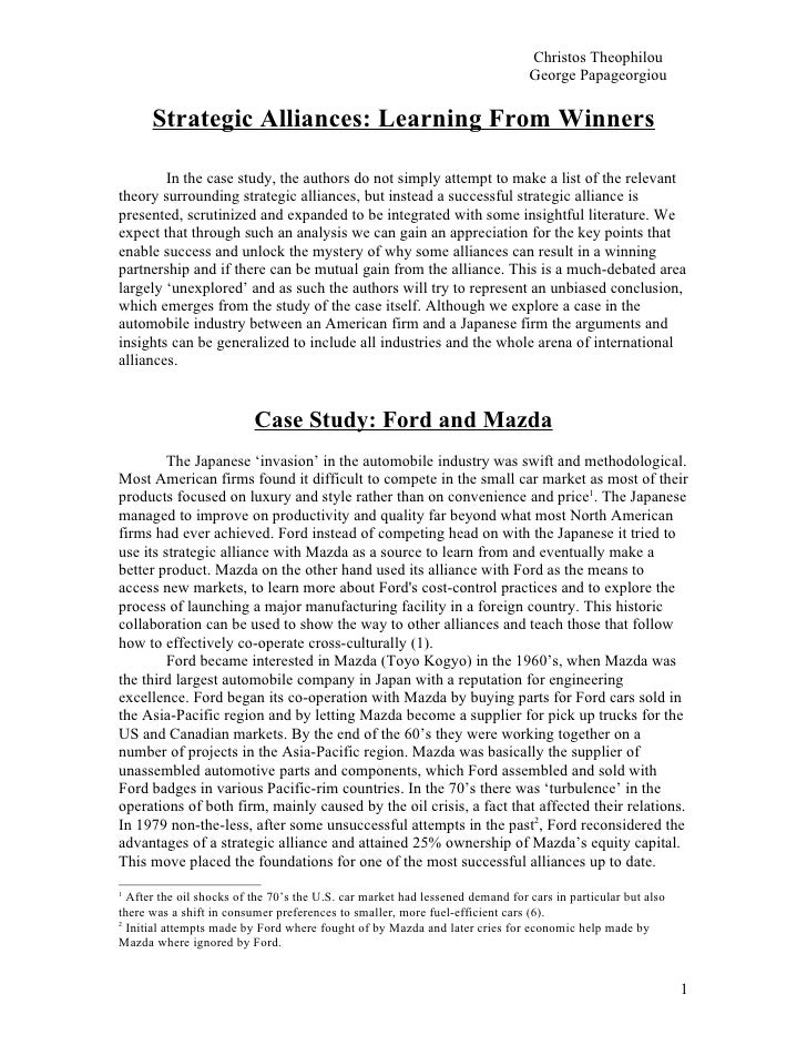 Case Study Analysis Paper Example